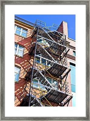Fire Escape Framed Print by Tom Gowanlock