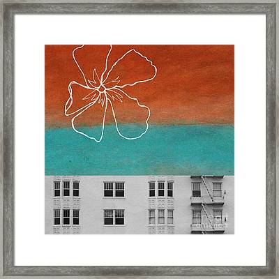 Fire Escapes Framed Print by Linda Woods