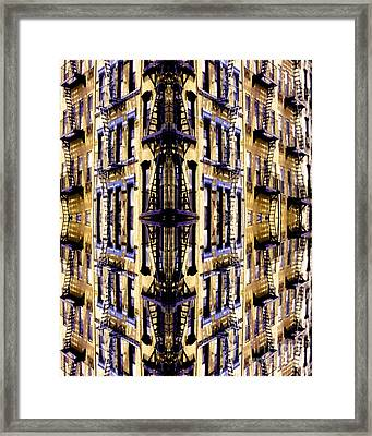 Fire Escapes - New York City Framed Print by Linda  Parker