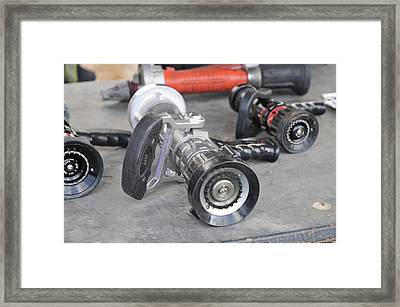 Fire Fighters Equipment Framed Print by Photostock-israel