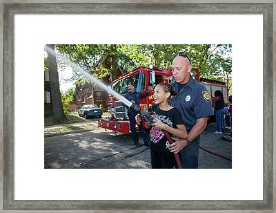 Fire Fighting Educational Outreach Framed Print by Jim West
