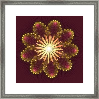 Fire Flower Mandala Framed Print by Svetlana Nikolova