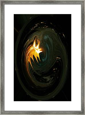 Fire From Above Framed Print by Ella Char