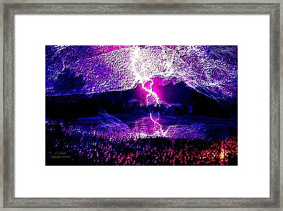 Fire From The Sky Framed Print by Larry Lamb