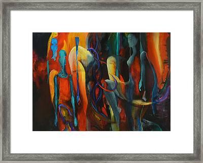 Fire Framed Print by Georg Douglas