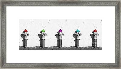 Fire Hydrants Framed Print by Dia Karanouh