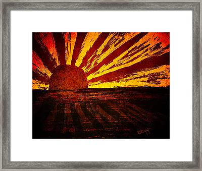 Fire In The Sky Framed Print by Brenda Bryant
