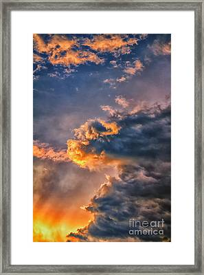 Fire In The Sky Framed Print by James Taylor