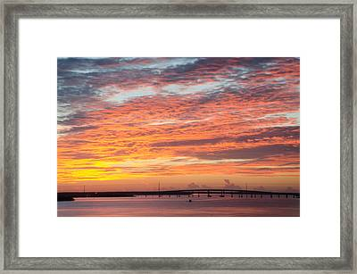 Fire In The Sky Framed Print by Margaret Pitcher