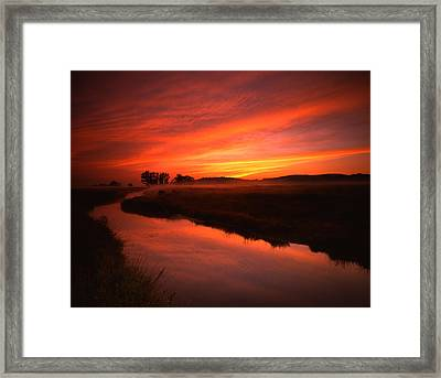 Fire In The Sky Framed Print by Ray Mathis