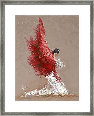 Fire Framed Print by Karina Llergo