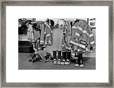 Fire Museum Beaumont Tx Framed Print by Christine Till