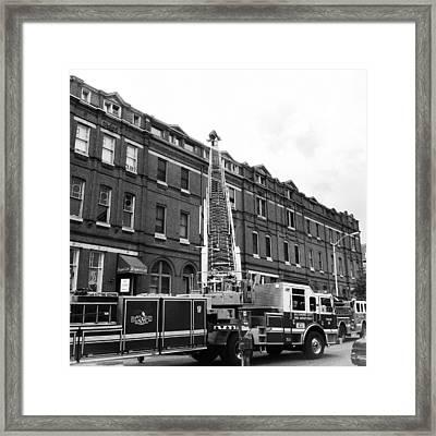 Fire On Preston Street Framed Print by Toni Martsoukos