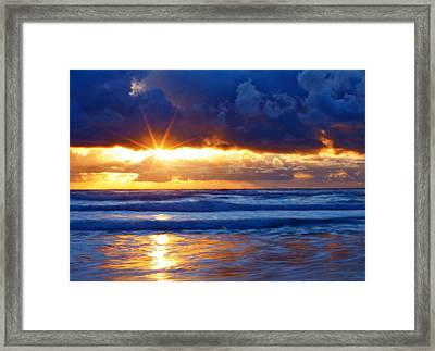 Fire On The Horizon Framed Print by Darren  White
