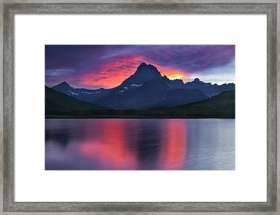 Fire On The Mountain Framed Print by Andrew Soundarajan