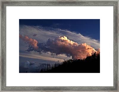 Fire On The Mountain Framed Print by Douglas Barnett