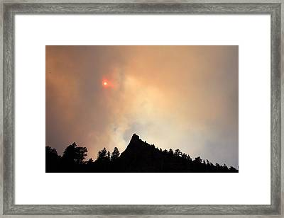Fire On The Mountain Framed Print by Emily Clingman