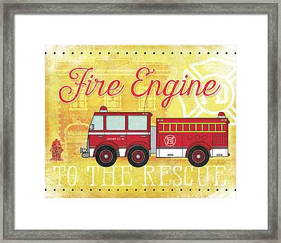 Fire Rescue Framed Print by Jennifer Pugh