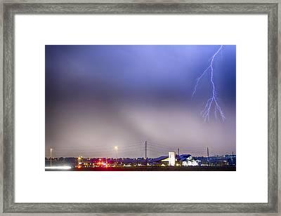 Fire Station Lightning Strike Framed Print by James BO  Insogna