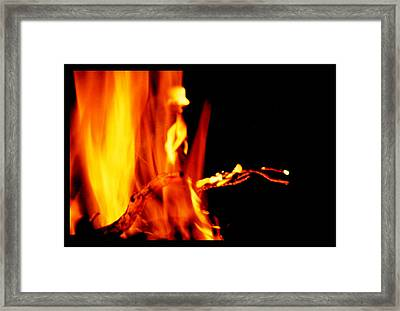 Elemental Fire Spirit Framed Print by Susanne Still