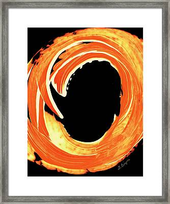 Fire Water 312 By Sharon Cummings Framed Print by Sharon Cummings
