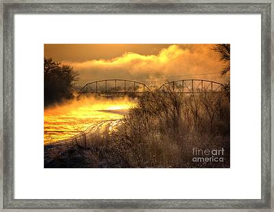 Fire Water Framed Print by Bob Hislop