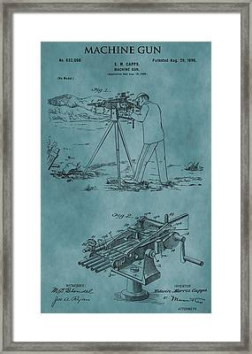 Firearm Machine Gun Patent Framed Print by Dan Sproul