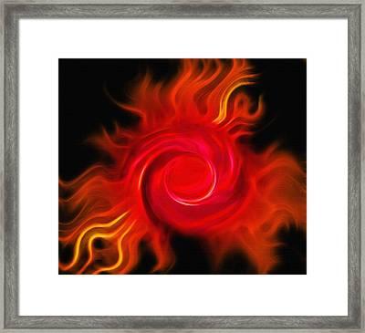 Fireball - Cosmic Peacock 2 Framed Print by Steve Ohlsen