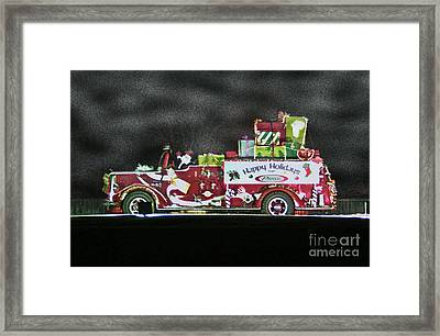 Firefighters Christmas Framed Print by Tommy Anderson