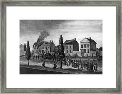 Firefighting, 1809 Framed Print by Granger
