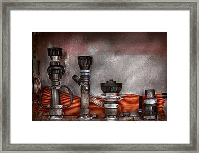 Firefighting - One For Everyone Framed Print by Mike Savad