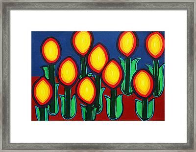 Fireflowers Framed Print by Matthew Brzostoski