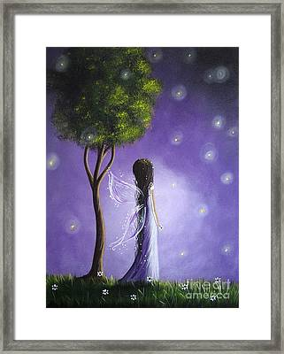 Original Fairy Art By Shawna Erback Framed Print by Shawna Erback