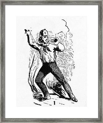 Fireman, 19th Century Framed Print by Granger