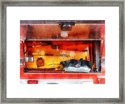 Fireman - Firemen's Tools Of The Trade Framed Print by Susan Savad