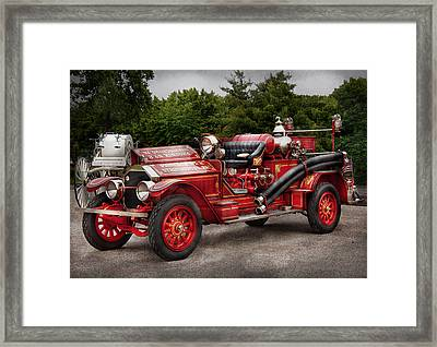 Fireman - Phoenix No2 Stroudsburg Pa 1923  Framed Print by Mike Savad