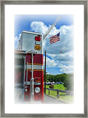 Fireman - Proudly They Serve Framed Print by Paul Ward