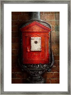 Fireman - The Fire Box Framed Print by Mike Savad