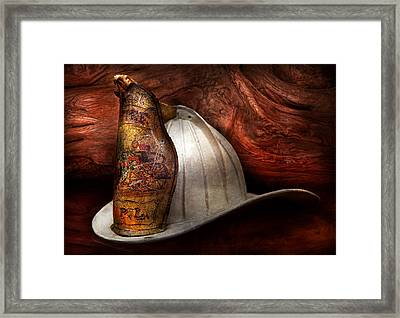 Fireman - The Fire Chief Framed Print by Mike Savad