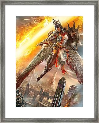 Firemane Avenger Promo Framed Print by Ryan Barger