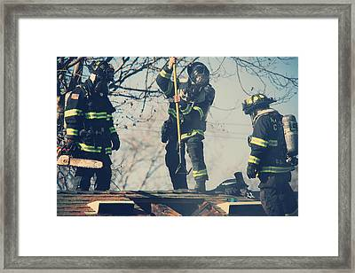 Firemen Framed Print by Laurie Search