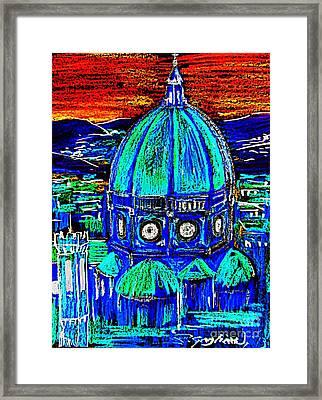 Firenze Santa Maria Del Fiore Framed Print by Roberto Gagliardi
