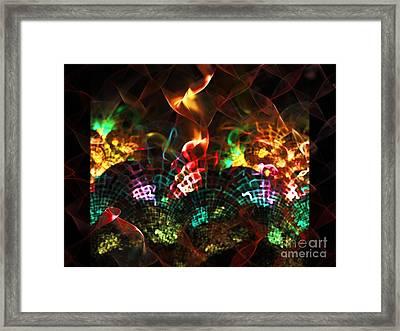 Fireplace Framed Print by Klara Acel