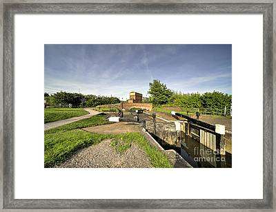 Firepool Lock Framed Print by Rob Hawkins