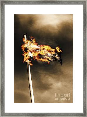 Fires Of Australian Oppression Framed Print by Jorgo Photography - Wall Art Gallery