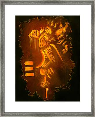 Firesign Framed Print by Sarai Rosario