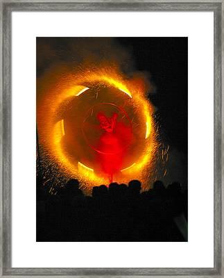 Firewheel Framed Print by Alan Oliver