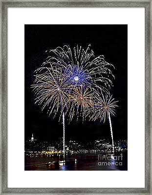 Firewoks Framed Print by Susan Candelario