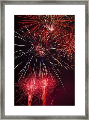 Firework Majesty  Framed Print by Garry Gay
