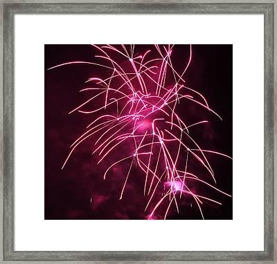Rockets Red Glare Fireworks Framed Print by Howard Tenke